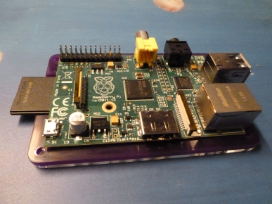 the RPi placed on the PiBow