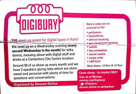 The Digibury Postcard